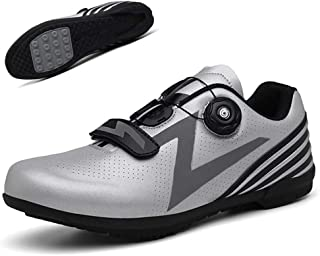 Cycling Shoes,Unisex Outdoor Sports Professional Lightweight Road Bicycle Shoes with Reflective Stripes,Non-Slip Adults Mountain Bike Athletic Cycling Racing Shoes