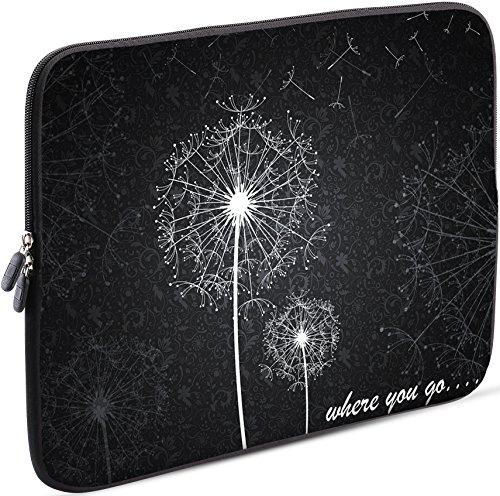 Sidorenko Laptop Tasche für 14-14,2 Zoll | Universal Notebooktasche Schutzhülle | Laptoptasche aus Neopren, PC Computer Hülle Sleeve Hülle Etui, Grau