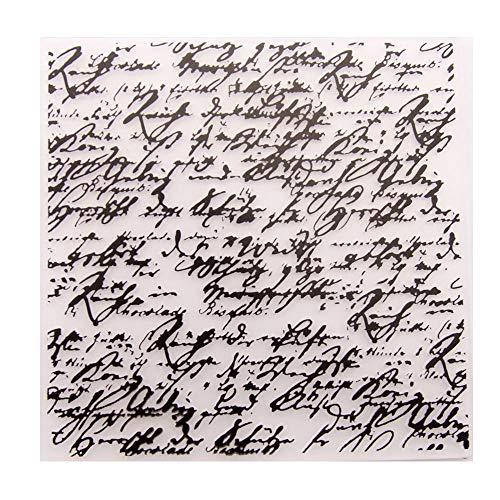 Inglés Carta Sentiment Fondo Plástico Embossing Carpeta para Scrapbook DIY Álbum Tarjeta Herramienta Plástico Plantilla Carpetas