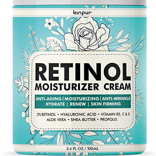 61n7Lay0ESL - 3% Retinol Face Moisturizer for Women - Anti Aging & Anti Wrinkle Cream that Works - 3.4 Oz