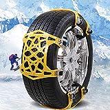 Catene da neve universali per auto criptate in TPU antiscivolo per pneumatici catena allargare il tipo di armatura catena di protezione per camion SUV 165 – 275 mm, 6 pezzi