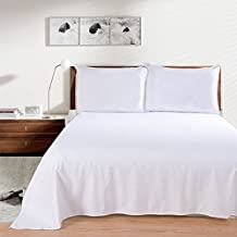 """Linenwalas Cotton Plain Bedsheet with 1 Pillow Cover - Solid Off White - 72"""" x 90"""""""