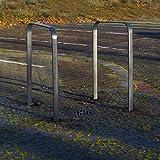 2x Fahrradanlehnbügel aus Flachstahl zum Einbetonieren | Fahrradständer Anlehnbügel Anlehnständer Poller Ständer Fahrradständer Fahrrad Ständer Rad Baumschutzbügel