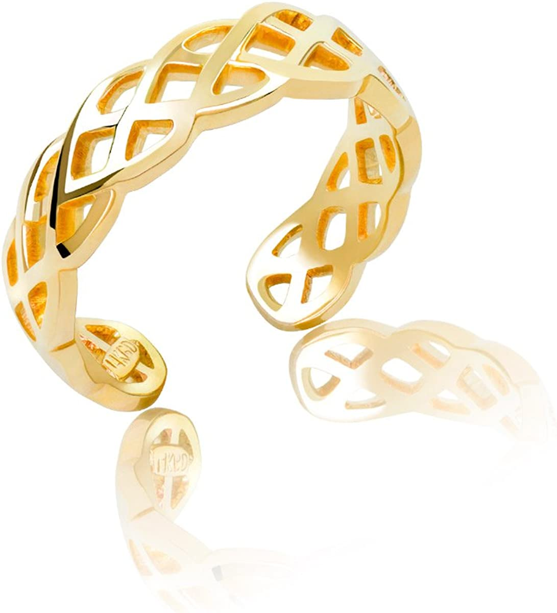 Honolulu Jewelry Company Max 57% OFF 14K Max 45% OFF Yellow Ring Gold Toe Braided Weave