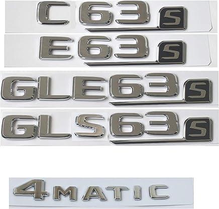 Clase C C63 C43 C55 AMG C180 C200 C220 C300 C320 C350 4MATIC CDI Cofre Emblema Cromo Letras Emblemas CDI