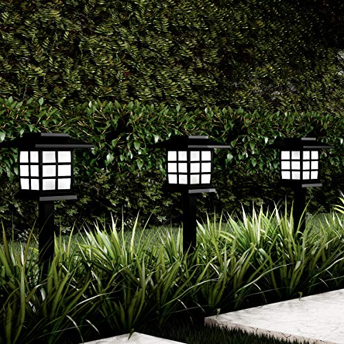 "Pure Garden 50-LG1057 Pathway Coach Lights-15"" Water Resistant Outdoor Stake Lighting for Garden, Landscape, Yd, Patio, Driveway Walkway-Set of 6"