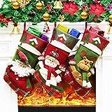 Dreampark クリスマスストッキング 3パック ビッグクリスマスストッキング サンタ雪だるまホームデコレーション(スタイル1)