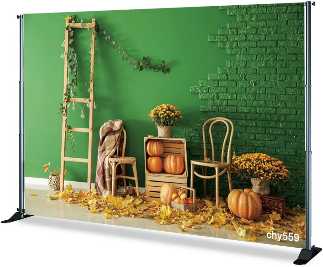 TCReal Landscape Background Photography Studio Halloween Holiday Celebration Birthday Party Romantic Wedding Photography Pumpkin Background Home Decoration 5x5ft,chy559