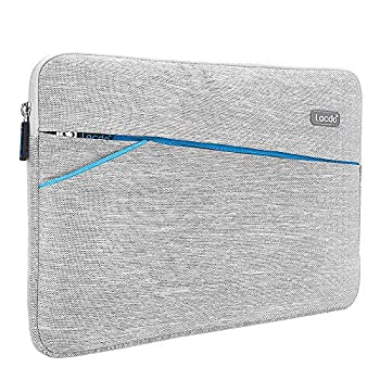 Lacdo 11 inch Chromebook Case Laptop Sleeve for 11.6  Samsung Dell Lenovo Acer Chromebook R11 | ASUS C202 | HP ProBook/Stream | 11.6  MacBook Air | Surface Pro X 7 6 Water Repellent Notebook Bag Gray