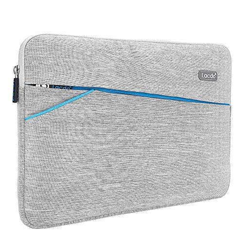 Lacdo 13 Inch Waterproof Laptop Sleeve Case Compatible MacBook Pro 13.3-inch Retina 2012-2015 / Old MacBook Air 13' / iPad Pro/Surface Book/ASUS ZenBook HP Chromebook Bag Carrying Case Gray