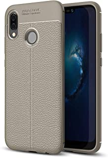 JDYS AYSMG For Huawei P20 Lite Litchi Texture Soft TPU Protective Back Cover Case (Black) (Color : Grey)