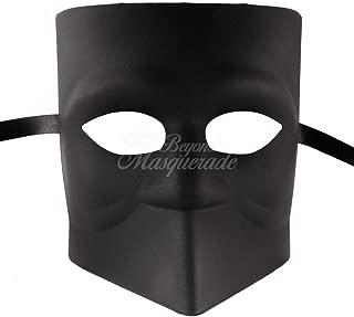 Black Blank Bauta Venetian Masquerade Mask for Men