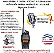 TYT TH-UV8000D 4th Generation VHF/UHF Cross-Band Radio Bundle (with Programming Software and FTDI Cable)