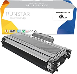 Run Star TN360 Compatible Toner Cartridge Replacement for Brother TN330 Work for Brother MFC-7840W MFC-7340 HL-2140 HL-2170W DCP-7040 MFC-7440N MFC-7345N DCP-7030 DCP-7045N HL-2150N Printer