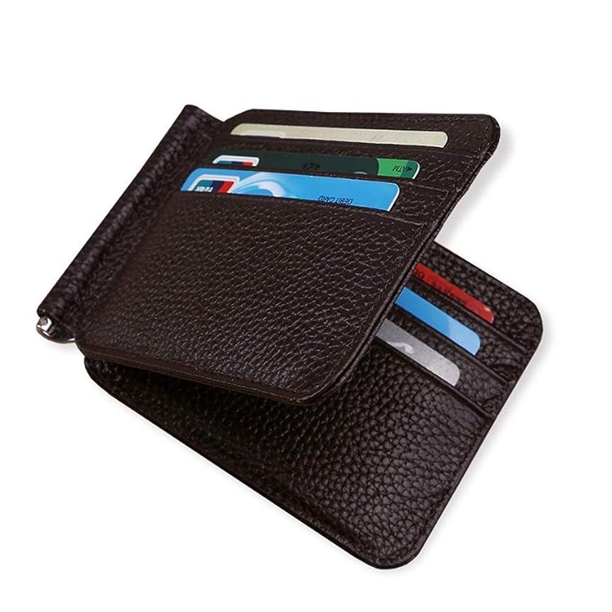 コンピューターを使用するミニチュア桁MUMUWU 二つ折り 財布 本革 大容量 メンズ ボックス型小銭入れ 隠しポケット付き 二つ折り財布