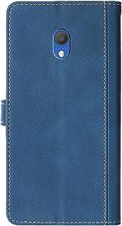 Retro folio flip läderfodral till Alcatel 1c 2019, kvinnor plånbok fodral magnetisk stängning korthållare stöttålig elegan...