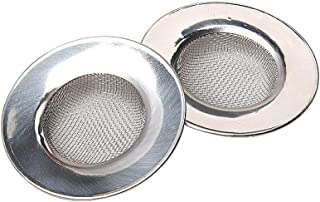 Filtro para fregadero de cocina de acero inoxidable grande bordo largo 10,8cm Juego de 2