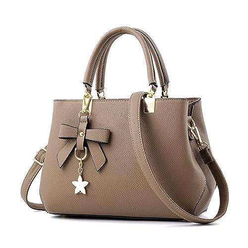 9e1bfb0fb1 Leather Bag Khaki  Amazon.co.uk