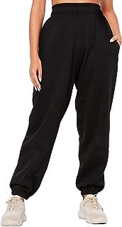 BriskyM Pantaloni della Tuta Inferiori da Donna Tasche Vita Alta Sportivo Palestra Pantaloni Sportivi da Jogger Pantaloni ...