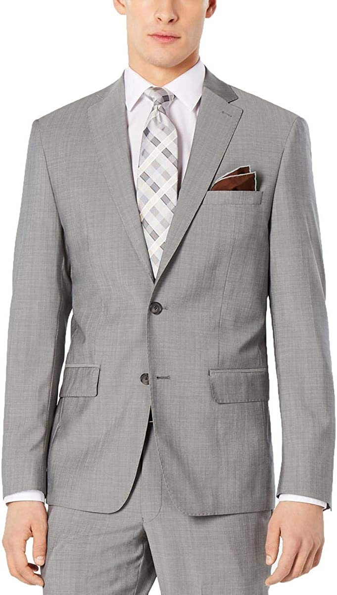 DKNY Mens Wool Modern Fit Suit Jacket