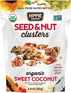 Hippie Snacks Seed & Nut Clusters, Sweet Coconut, 2.8oz (Pack of 6)