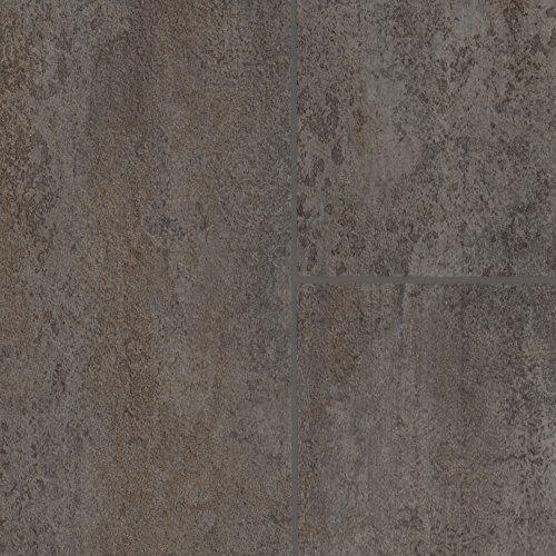 BODENMEISTER BM70518 Vinylboden PVC Bodenbelag Meterware 200, 300, 400 cm breit, Fliesenoptik grau