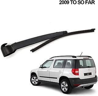 LEEXOWC Rear Wiper Blade and Arm Windscreen Rubber Car Accessories Rear Window,for Skoda YETI 2009-2018