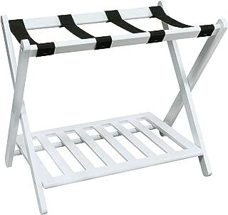 Casual Home Shelf- White Luggage Rack