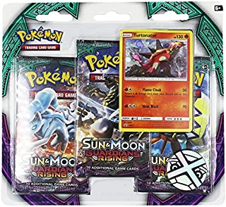 Pokemon TCG: Sun & Moon Guardians Rising - Turtonator+ 3 Booster Packs   Features Rare Holofoil Turtonator Card   Value Pack with 3 Booster Packs   100% Authentic Branded Pokemon Expansion Packs