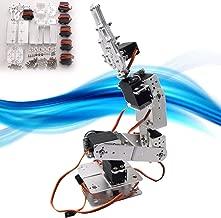 Shentesel 6DOF Aluminium Robot Arm Clamp Mount Kit with Servos for Arduino-Silver
