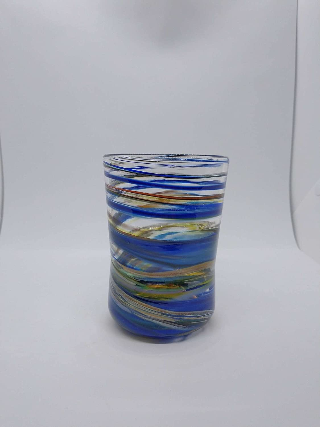 SINGLE swirl Cup glass Hand Blown Glass Water Glasses Ranking TOP12 G Drinking Max 45% OFF