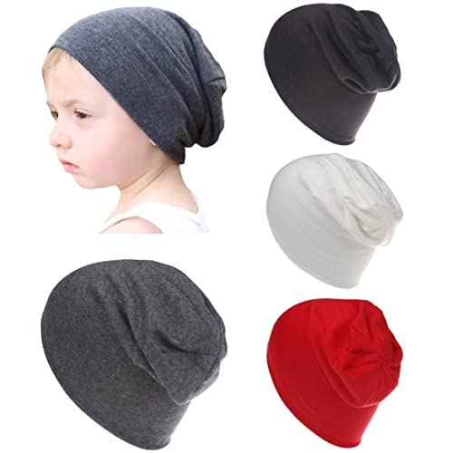 2ef56378ec5 Qandsweet Baby Boy s Hat Kids Cool Knit Beanie Hats Toddlers Caps (4 Pack  ...