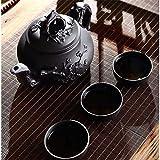 Turtle Story Tetera China Porcelana Yixing Zisha Potita de té 400ml + 3 Tazas 60ml Kung Fu Juego de té Tetera Hecho a Mano Zisha Hervidor de cerámica JXNB