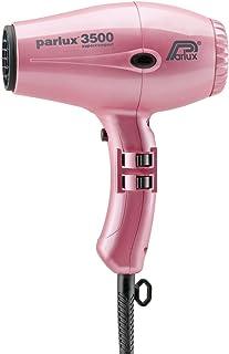Parlux 3500 Super Compact Secador de pelo de cerámica con iones, 2000 W, Rosa metálico