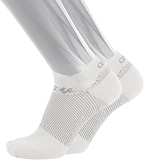 OS1st FS4 No Show Plantar Fasciitis Socks (Pair) for Plantar Fasciitis Relief, Arch Support and Foot Health Featuring Patented FS6 Technology
