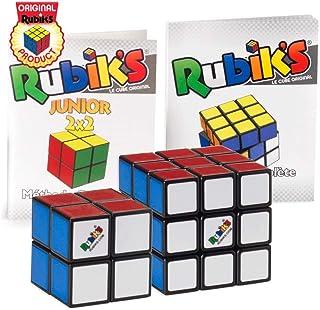 Rubik's Collection Cube | Pack de Cubes Cubes 2x2 et 3x3 Originaux, Packs de 2 Puzzles Classiques de Correspondance de Cou...