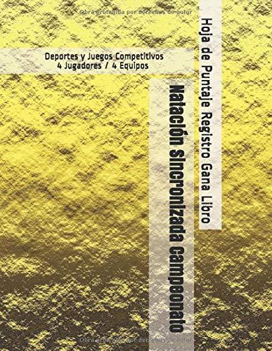 Natación Sincronizada Campeonato - Deportes y Juegos Competitivos - 4 Jugadores / 4 Equipos - Hoja de Puntaje Registro Gana Libro