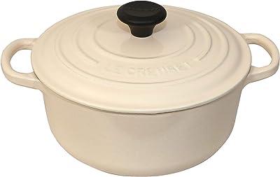 Le Creuset LS2501-203W Round Dutch Oven Enameled Cast-iron - (2.75 Quart) Cream