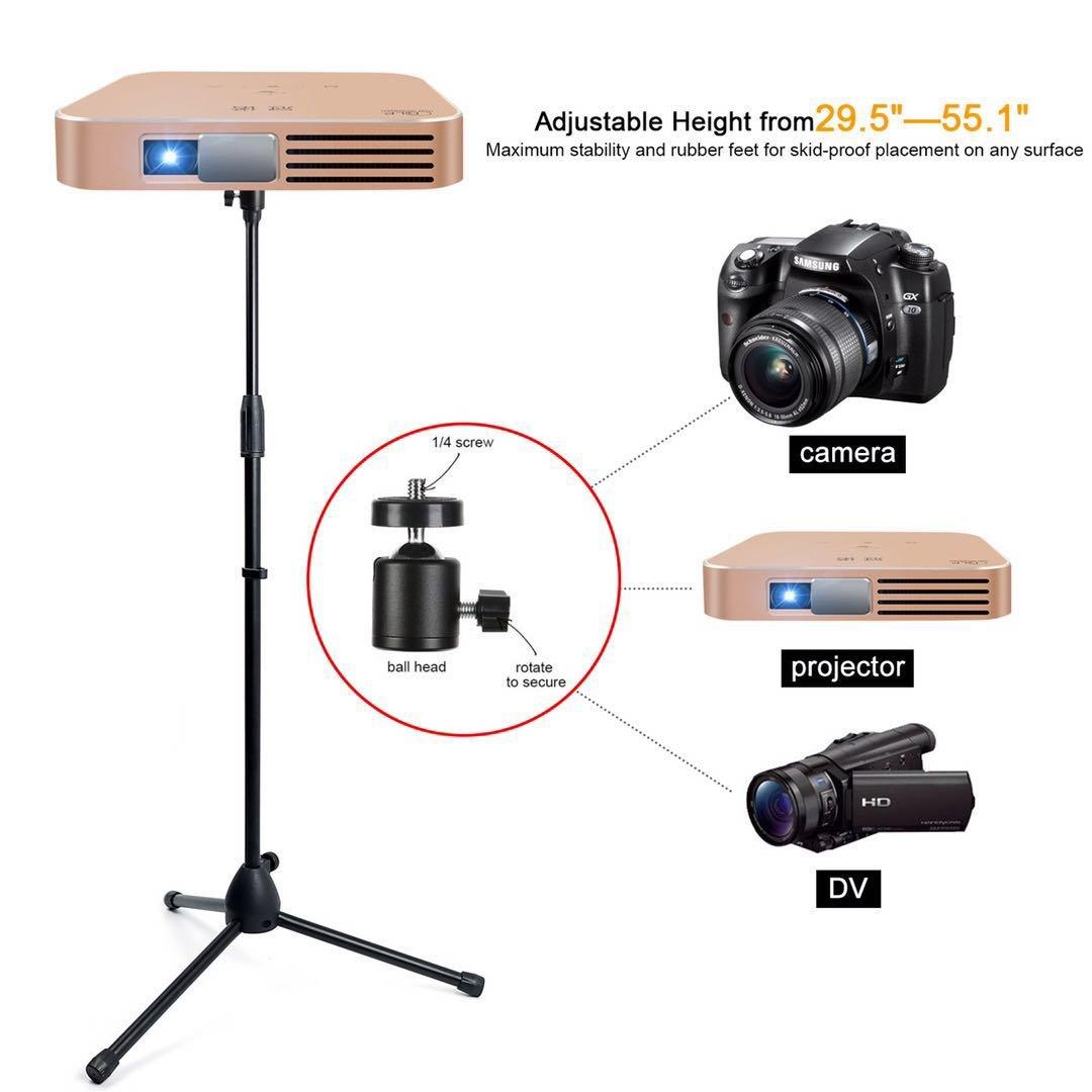Soporte de proyector, portátil ajustable para trípode soporte de ...