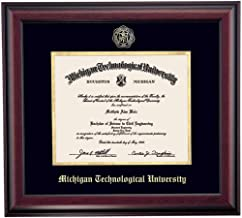 OCM Michigan Technological Traditional Diploma Frame with School Color for Graduates of Michigan Technological University (Michigan Tech)