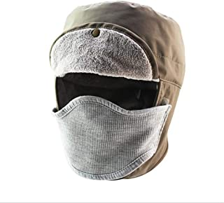 Hats Windproof Waterproof Unisex Ski Hat Balaclava Face Mask Motorcycle Face Shield Neck Warmer for Winter Outdoors Cycling Snowboarding Hiking Fashion (Color : Beige, Size : M(56-58cm))