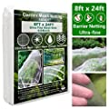 Ultra Fine Garden Mesh Netting, Plant Covers 8'x24' Garden Netting for Protect Vegetable Plants Fruits Flowers Crops Greenhouse Row Cover Protection Mesh Net Covers Patio Gazebo Screen Barrier Net