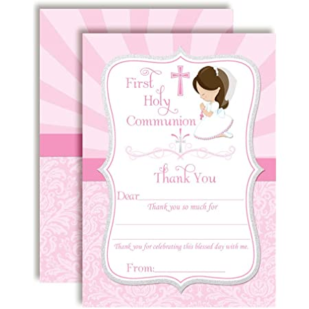 with text of your choice Acknowledgements Thanks Card Communion Thank you boys and girls