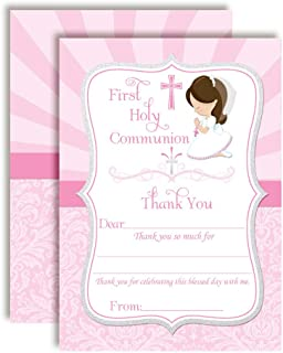 First Holy Communion Religious Thank You Notes for Girls, Ten 4