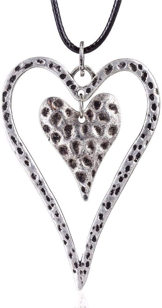 Necklace Regular store Pendant Vintage Silver Jewelry Heart Ranking TOP2 Stat Women