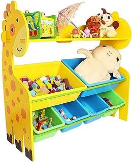 Rack Jouet pour Enfants Stockage Salle de Jeux Chambre du Plateau tiroir Jouets for Enfants Bin Organisateur Enfants Boîte...
