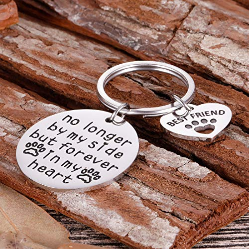 Pet Cat Dog Memorial Keychain Gifts for Pet Owner Dog Mom Dad Remembrance Memory Sympathy Gifts for Loss of Dog Pet Loss Gifts Keepsake for Dog Lover Forever in My Heart Paw Print Keyring Photo #5