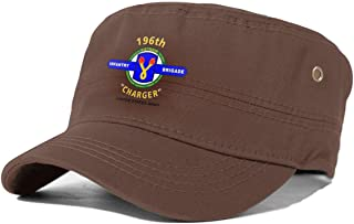 196 Infantry Brigade Vietnam Cadet Army Cap Flat Top Sun Cap Military Style Cap