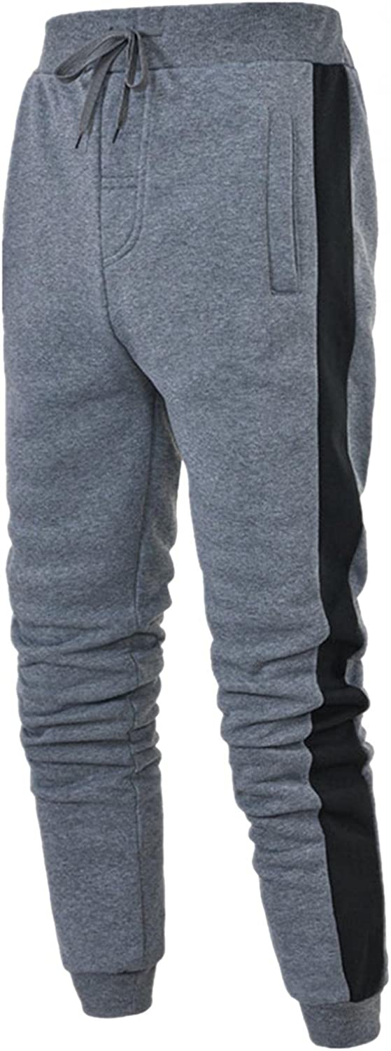 Beshion Men's Sweatpants Joggers Track Trousers Sports Slim Fit Athletic Straight Splice Pants with Pokcet