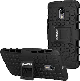 AMZER Impact Resistant Hybrid Warrior Case for Motorola Moto X Style, Moto X Pure Edition - Black